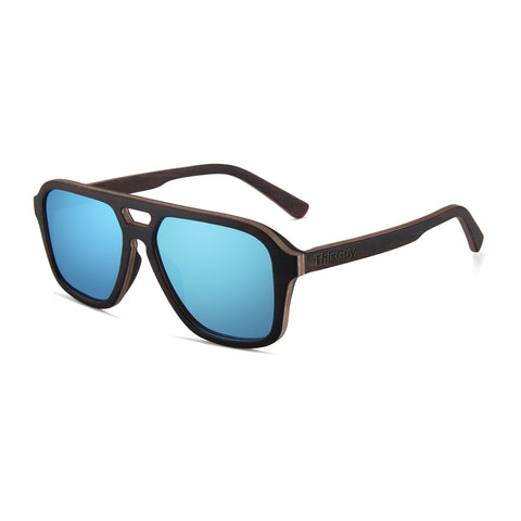 Ebony Wood Fighter Sunglasses (Black)