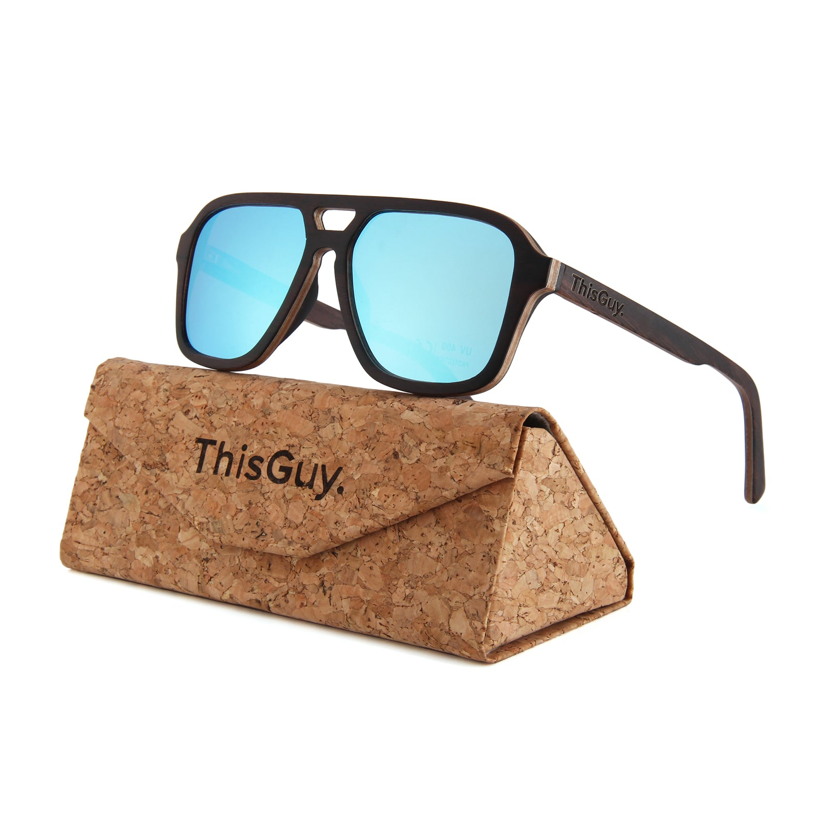 Foldable Triangle Cork Sunglasses Case