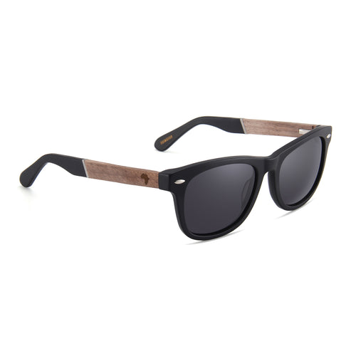 Rose Wood Black Tips (Black with Smoke Lens)