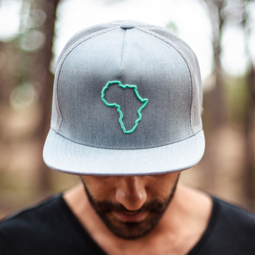ThisGuy SnapBack Trucker Cap - Africa Edge (Heather Grey)