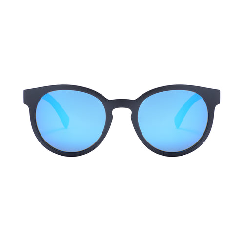 Ebony Wood Fighters (Black with Ice Blue REVO Lens)