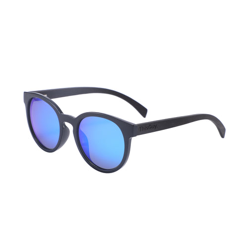 Ebony Wood Fighters (Black with Ice Blue Lens)