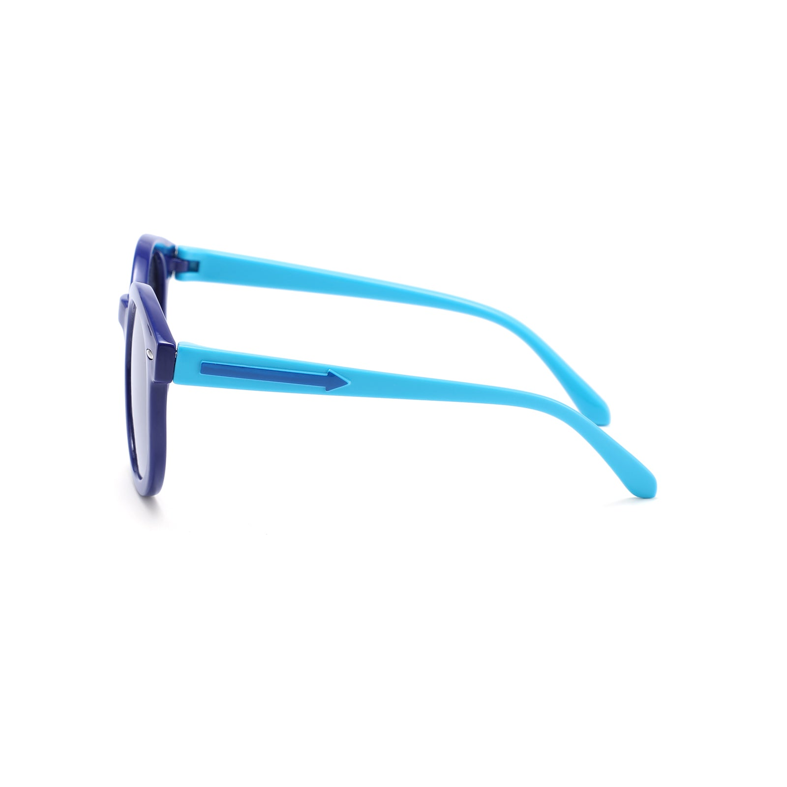 ThisGuy Kids Sunglasses - Black and Sky Blue Rounders