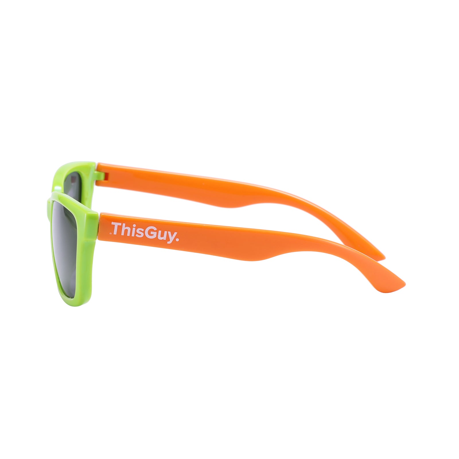 ThisGuy Kids Sunglasses - Green and Tiger Orange Wayfarers