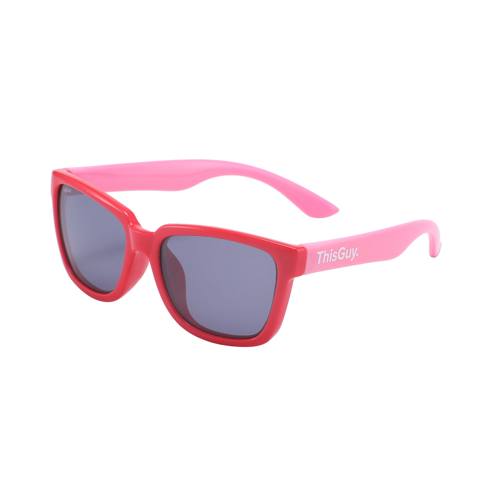 ThisGuy Kids Sunglasses - Ruby Red and Pink Wayfarers