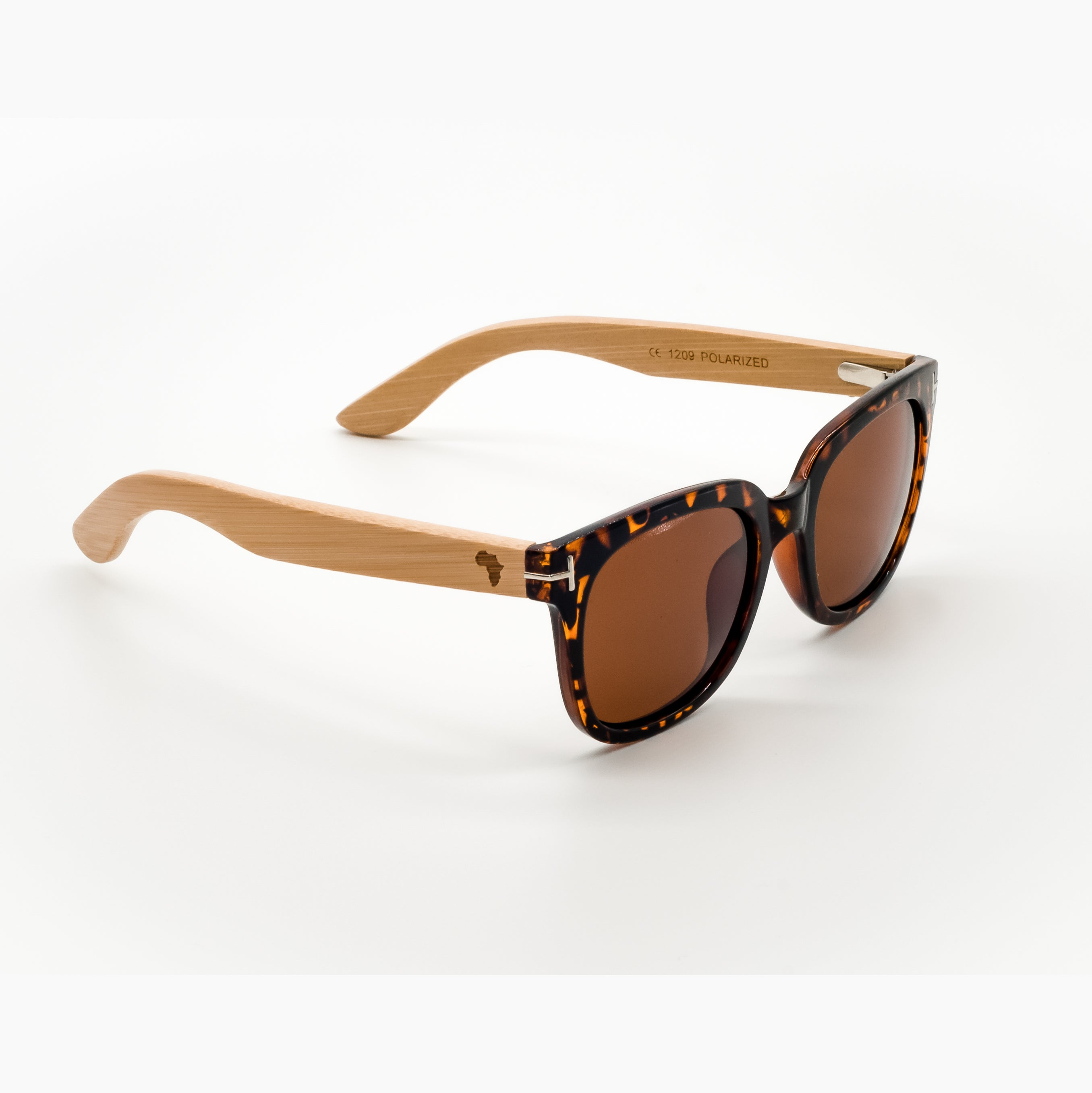ThisGuy Polarized Wooden Sunglasses - Bamboo Wood Retrofly Right