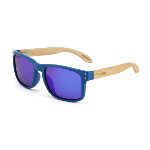 Bamboo Temple Sunglasses (Blue)