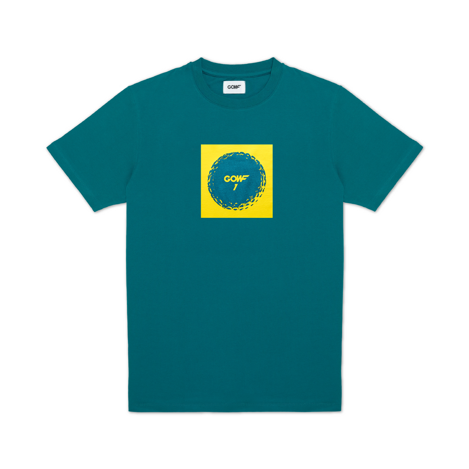 GOWF BALLER T-SHIRT GOLD ON GREEN