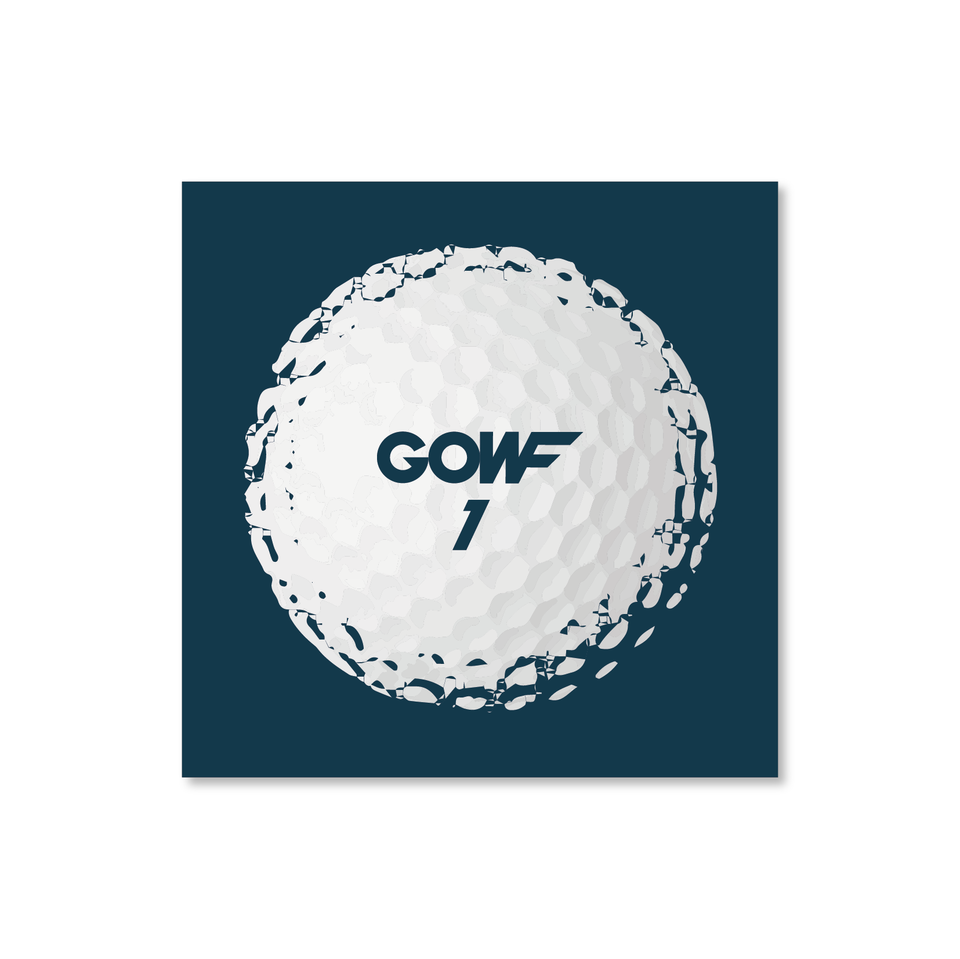 Golf ball, blue, print