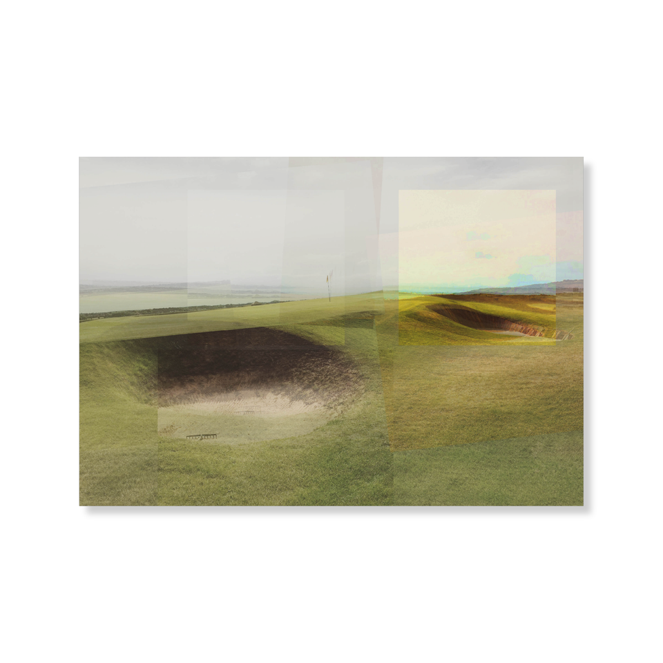 Photo, print, golf hole, multiple contrast colours