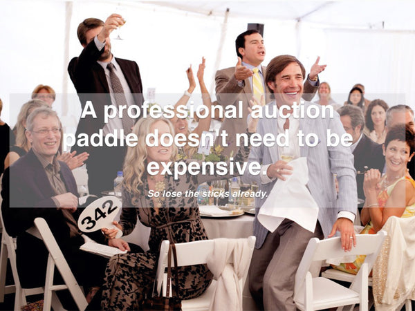 Professional Auction Paddles - Lose the sticks! Learn more here