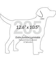 Labrador Retriever Dog Shape