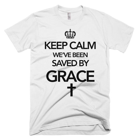 DUDES - Keep Calm, Saved by Grace t-shirt