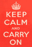POSTCARD (Pack of 10): Keep Calm And Carry On - Red