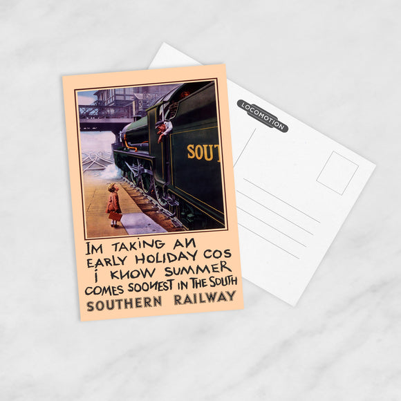 POSTCARD (Pack of 10): Summer Comes Soonest In The South