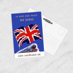 POSTCARD (Pack of 10): In War And Peace We Serve