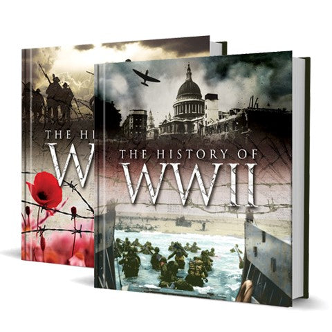 The History Of WWI & WWII Hardback Books - SPECIAL OFFER!