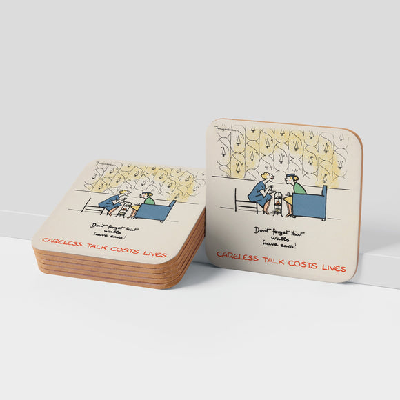 COASTER (Pack of 10): 'Don't Forget That Walls Have Ears!'