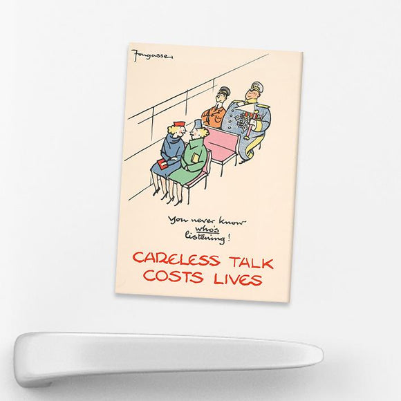 MAGNET (Pack of 10): 'You Never Know Who's Listening!'