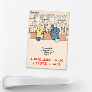 MAGNET (Pack of 10): 'Be Careful What You Say And Where You Say It!'