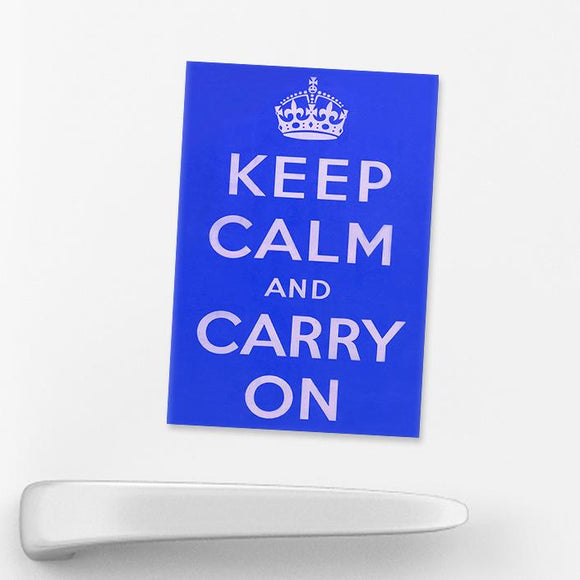 MAGNET (Pack of 10): Keep Calm And Carry On - Blue