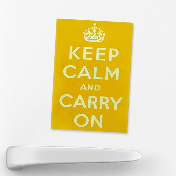 MAGNET (Packs of 10): Keep Calm And Carry On - Yellow