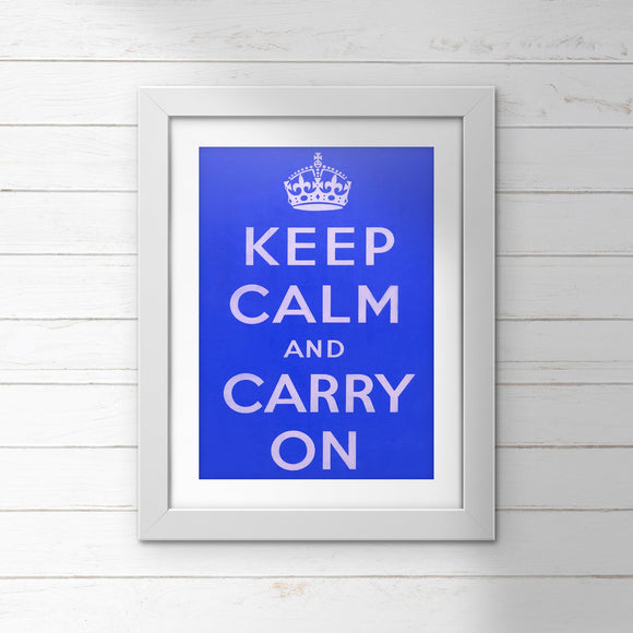 POSTER (Pack of 10): Keep Calm And Carry On - Blue