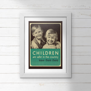 POSTER (Pack of 10): 'Children Are Safer In The Country'