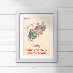POSTER (Pack of 10): 'You Never Know Who's Listening!'