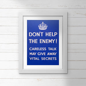 POSTER (Pack of 10): Don't Help The Enemy!