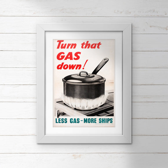 POSTER (Pack of 10): Turn That GAS Down!