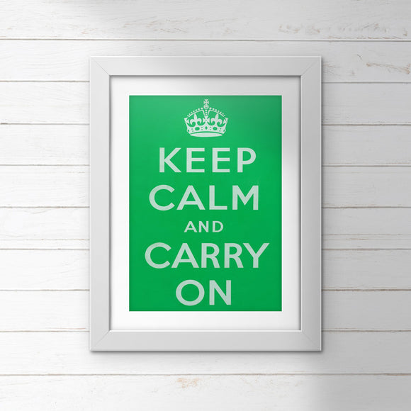 POSTER (Pack of 10): Keep Calm And Carry On - Green