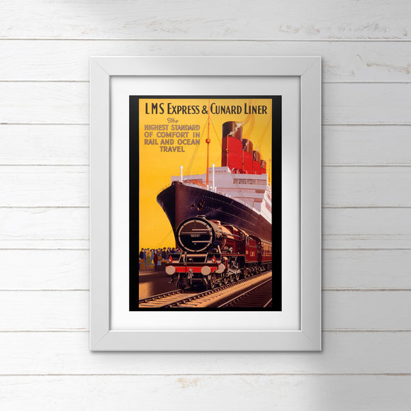 POSTER (Pack of 10): Express & Cunard Liner