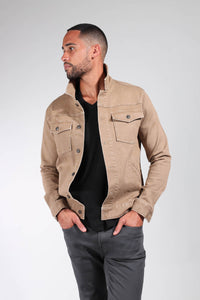 The Asher Stretch Trucker Jacket - Khaki
