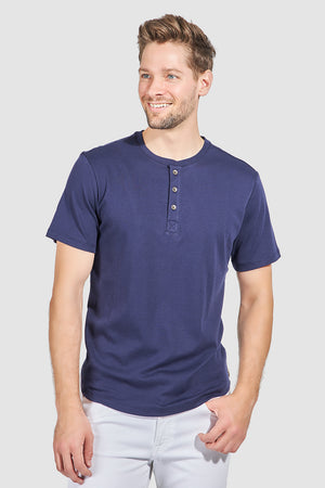 Mason Short Sleeve Henley - Navy