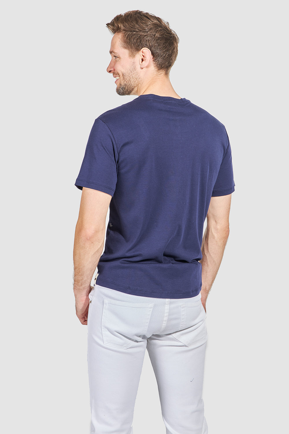 Load image into Gallery viewer, Monti Short Sleeve Henley - Navy