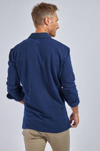 The Jagger Popover Polo - Canclini Indigo