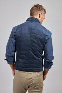 The Colton Micro Suede Vest - Navy