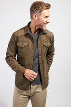 Load image into Gallery viewer, The Wyatt Micro Suede Shirt Jacket - Olive