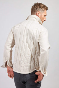 The Greyson Wool/Nylon Shirt Jacket - Oatmeal