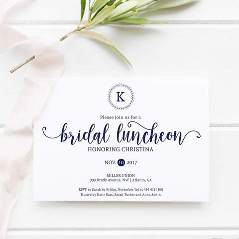 Bridal Luncheon Invitation