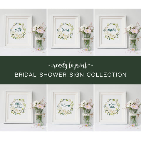 Bridal Shower Sign Bundle