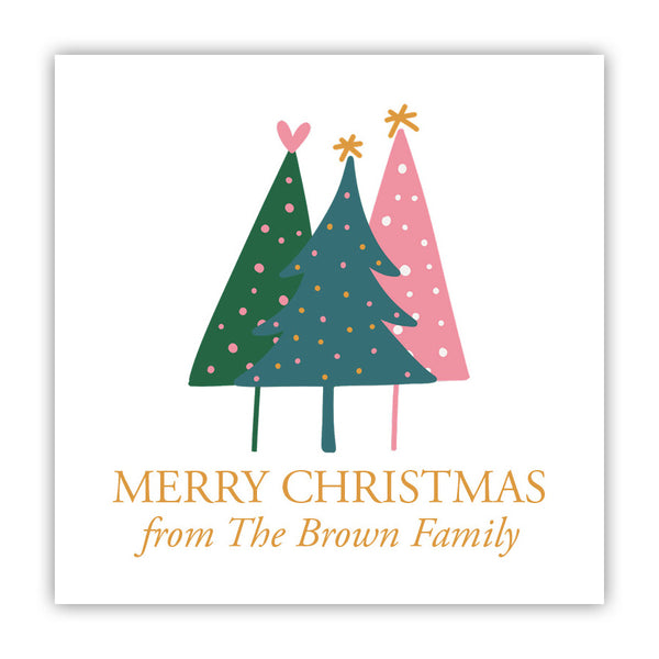 Personalized Christmas Tree Stickers
