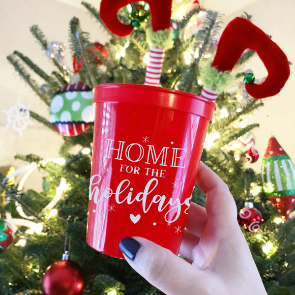 Home For The Holidays Party Cups