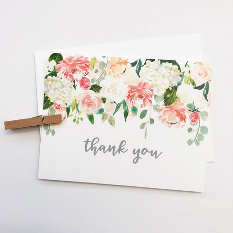 Falling Florals Thank You