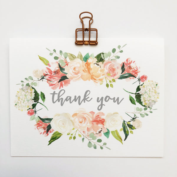 Floral Wreath Thank You
