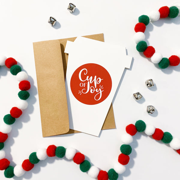 Cup of Joy Gift Card Holder