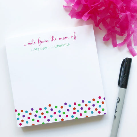 Polka Dot Mom Notepad