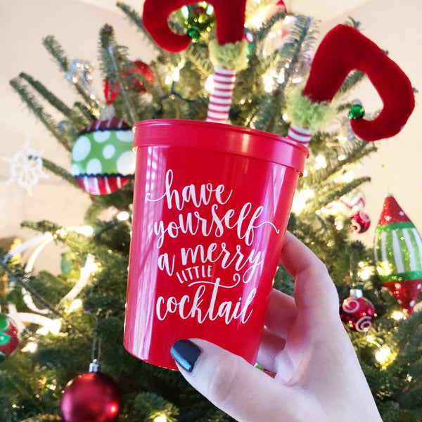 Merry Little Cocktail Party Cups