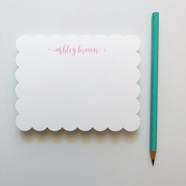 Scalloped Edge Notecard